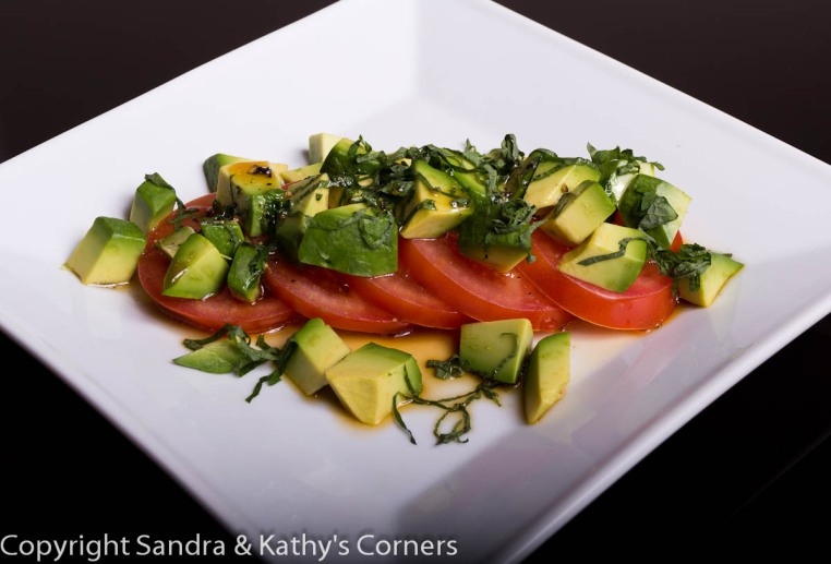 Shiso Avocado Tomato Salad